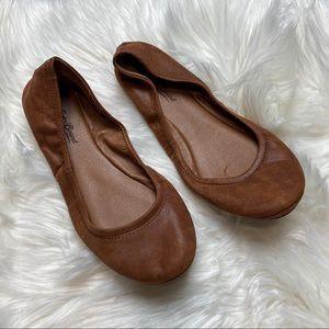 Lucky Brand Ballerina / Ballet Brown Flats
